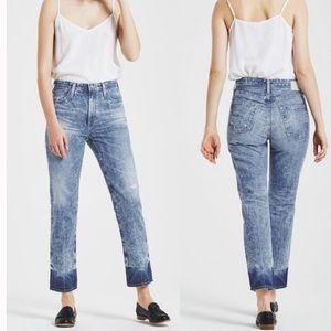 AG Phoebe Vintage High Waisted Tapered Leg Jeans